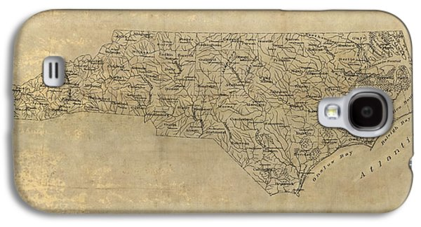 North Drawings Galaxy S4 Cases - Antique Map of North Carolina - 1893 Galaxy S4 Case by Blue Monocle