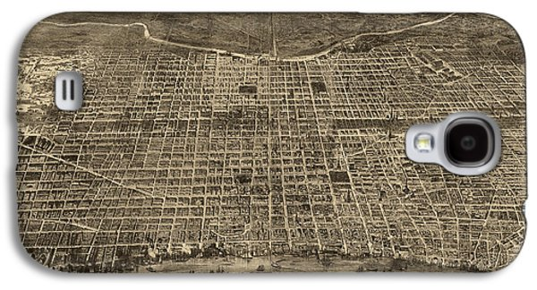 Philadelphia Drawings Galaxy S4 Cases - Antique Map of Philadelphia by Theodore R. Davis - 1872 Galaxy S4 Case by Blue Monocle