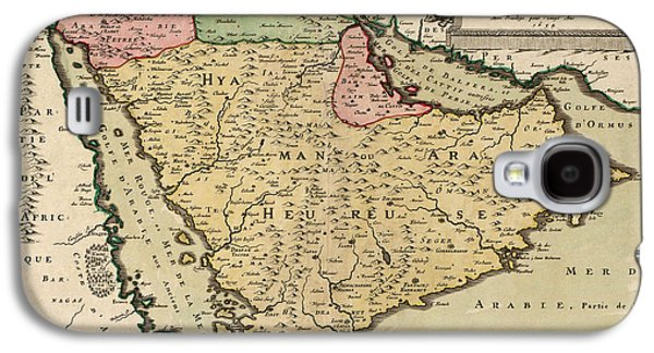 Antique Map Of Saudi Arabia And The Arabian Peninsula By Nicolas Sanson - 1654 Galaxy S4 Case by Blue Monocle