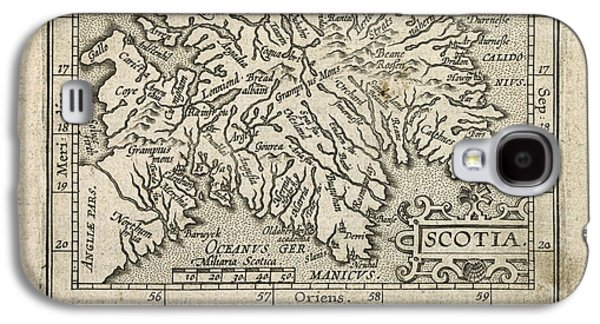 Scotland Galaxy S4 Cases - Antique Map of Scotland by Abraham Ortelius - 1603 Galaxy S4 Case by Blue Monocle