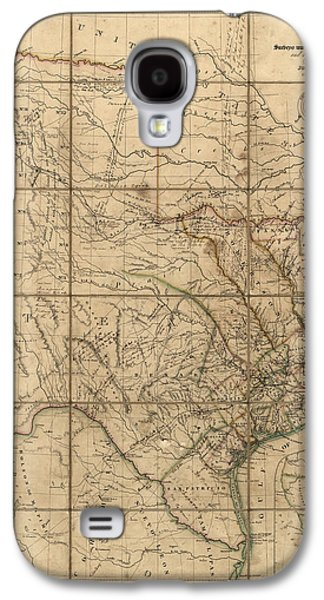 Map Drawings Galaxy S4 Cases - Antique Map of Texas by John Arrowsmith - 1841 Galaxy S4 Case by Blue Monocle