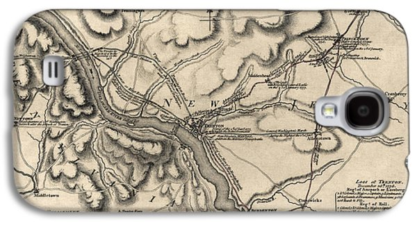 New Drawings Galaxy S4 Cases - Antique Map of the Battle of Trenton by William Faden - 1777 Galaxy S4 Case by Blue Monocle
