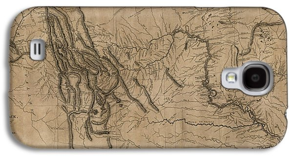 Map Drawings Galaxy S4 Cases - Antique Map of the Lewis and Clark Expedition by Samuel Lewis - 1814 Galaxy S4 Case by Blue Monocle
