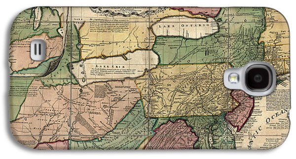 Americans Drawings Galaxy S4 Cases - Antique Map of the Middle American Colonies by Thomas Jefferys - 1758 Galaxy S4 Case by Blue Monocle
