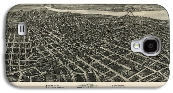 Antique Map Of Tulsa Oklahoma By Fowler And Kelly - 1918 Galaxy S4 Case by Blue Monocle
