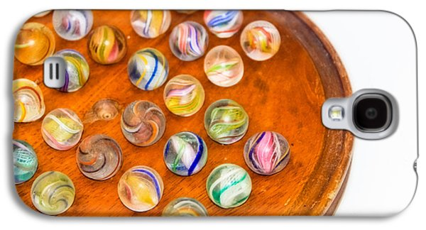 Marble Eye Galaxy S4 Cases - Antique Marbles - Vintage Toys Galaxy S4 Case by Colleen Kammerer