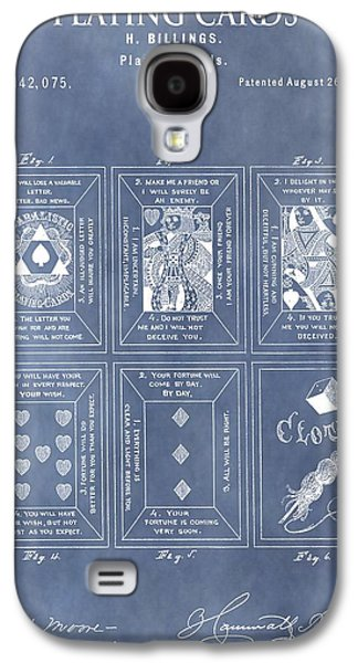 Playing Drawings Galaxy S4 Cases - Antique Playing Cards Galaxy S4 Case by Dan Sproul