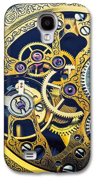 Antique Pocket Watch Gears Galaxy S4 Case by Garry Gay