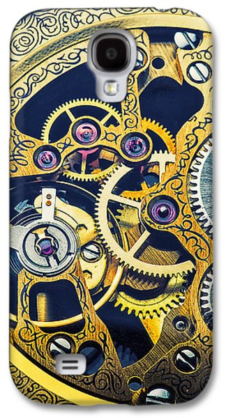 Antique Pocket Watch Gears Galaxy S4 Case by Garry Gay