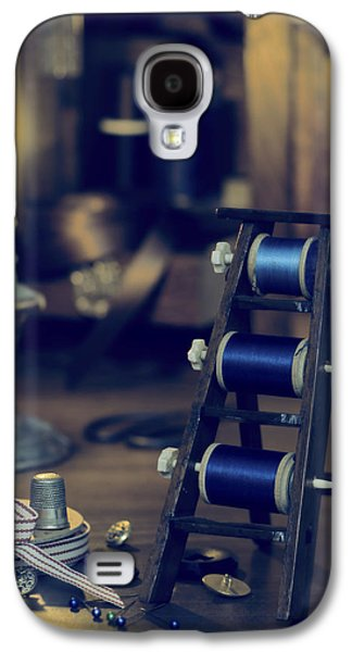 Duo Tone Galaxy S4 Cases - Antique Sewing Items Galaxy S4 Case by Amanda And Christopher Elwell