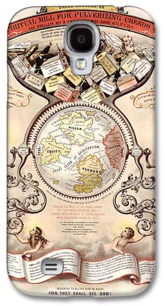 Spiritualism Galaxy S4 Cases - Antique Spiritualism Map Galaxy S4 Case by Gary Grayson