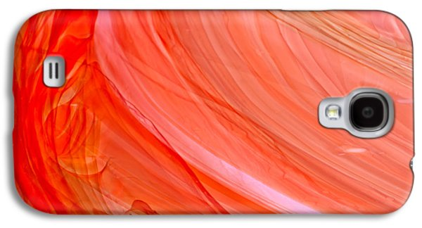 Studio Glass Art Galaxy S4 Cases - Antique Streaky Stained Glass Abstract Galaxy S4 Case by Jared Shomo