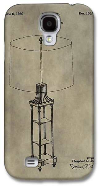 The Houses Mixed Media Galaxy S4 Cases - Antique Table Lamp Patent Galaxy S4 Case by Dan Sproul