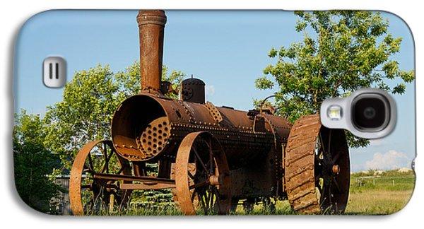 Machinery Galaxy S4 Cases - Antique Tractor - A Rusty Relic on a Farm Galaxy S4 Case by Georgia Mizuleva