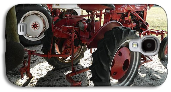 Machinery Galaxy S4 Cases - Antique Tractor Hiding in the Shadows Galaxy S4 Case by George Pedro