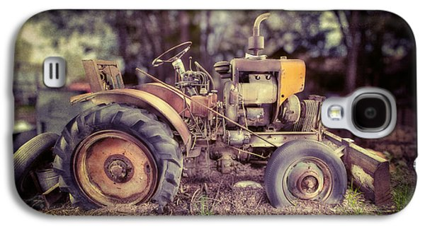 Machinery Galaxy S4 Cases - Antique Tractor Home Built Galaxy S4 Case by Yo Pedro