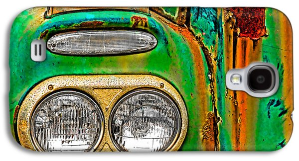 Farm Truck Galaxy S4 Cases - Antique Truck Lights Galaxy S4 Case by William Jobes