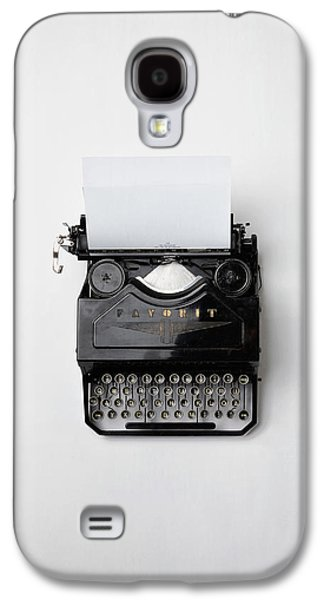 Character Portraits Photographs Galaxy S4 Cases - Antique Typewriter Galaxy S4 Case by Mountain Dreams