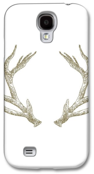 Deer Galaxy S4 Cases - Antlers Galaxy S4 Case by Randoms Print