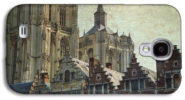 Antwerp Skyline Galaxy S4 Case by Joan Carroll