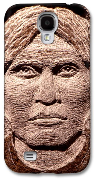 Native Sculptures Galaxy S4 Cases - Apache-Kid Galaxy S4 Case by Gordon Punt