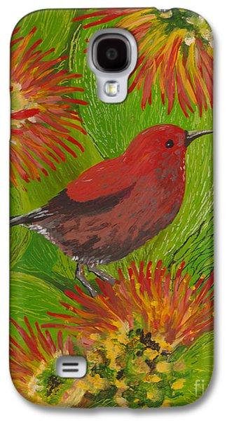 Fauna Glass Galaxy S4 Cases - Apapane Galaxy S4 Case by Anna Skaradzinska