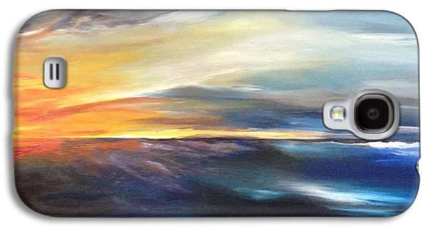 Bob Ross Photographs Galaxy S4 Cases - Erie Sky Galaxy S4 Case by Jessica Newell