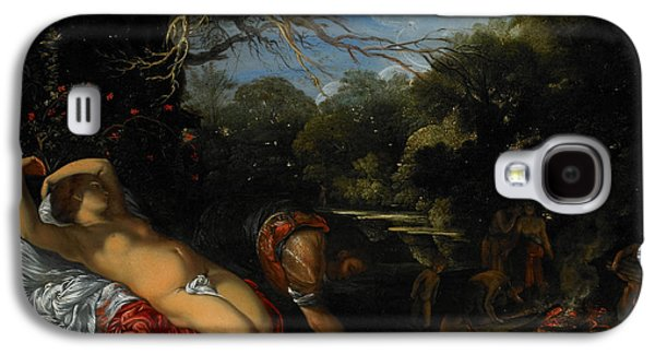 Two Colors Paintings Galaxy S4 Cases - Apollo and Coronis Galaxy S4 Case by Adam Elsheimer