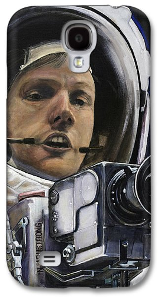 Cosmos Paintings Galaxy S4 Cases - Apollo- For Mankind Galaxy S4 Case by Simon Kregar