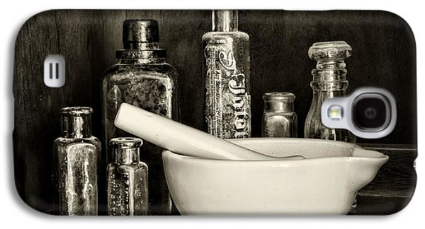 Old Grinders Galaxy S4 Cases - Apothecary in Black and White Galaxy S4 Case by Paul Ward