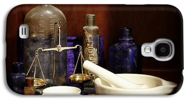 Old Grinders Galaxy S4 Cases - Apothecary - Mortar Pestle and Scales Galaxy S4 Case by Paul Ward