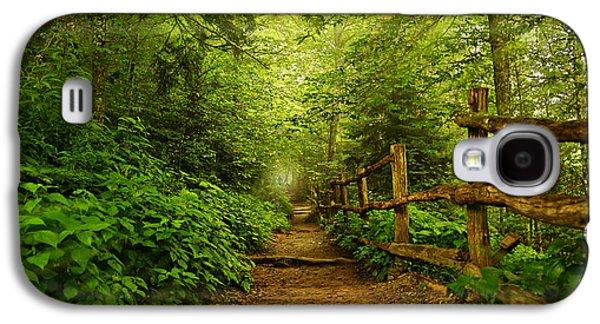 Green Galaxy S4 Cases - Appalachian Trail at Newfound Gap Galaxy S4 Case by Stephen Stookey
