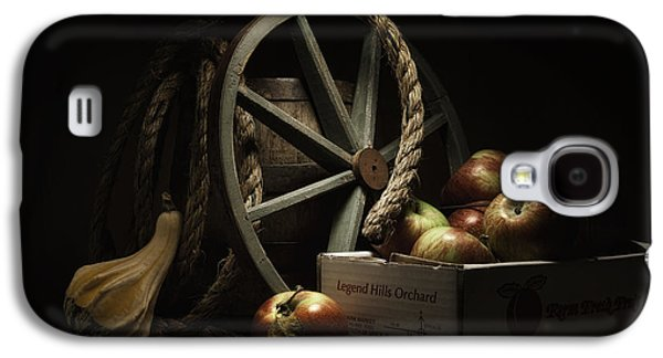 Wine Barrel Photographs Galaxy S4 Cases - Apple Basket Still Life Galaxy S4 Case by Tom Mc Nemar