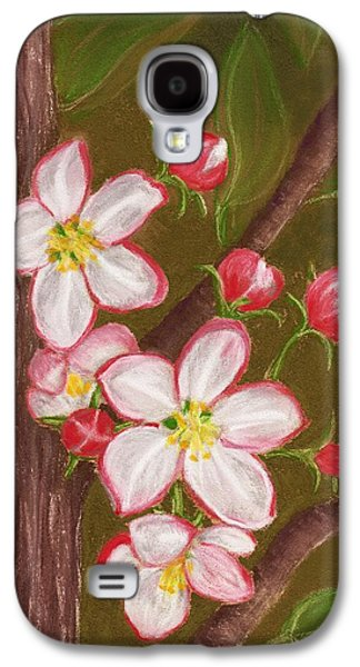 Food And Beverage Pastels Galaxy S4 Cases - Apple Blossom Galaxy S4 Case by Anastasiya Malakhova