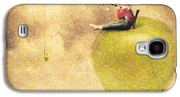 Colored Pencil Paintings Galaxy S4 Cases - Apple Dream Galaxy S4 Case by Taylan Soyturk
