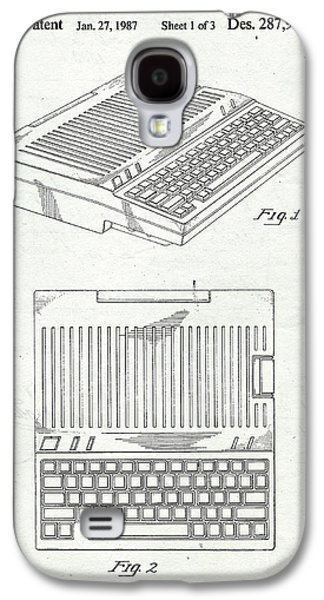 Computer Galaxy S4 Cases - Apple IIe Computer Original Patent Galaxy S4 Case by Edward Fielding