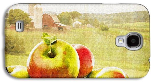 Apple Photographs Galaxy S4 Cases - Apple Picking Time Galaxy S4 Case by Edward Fielding