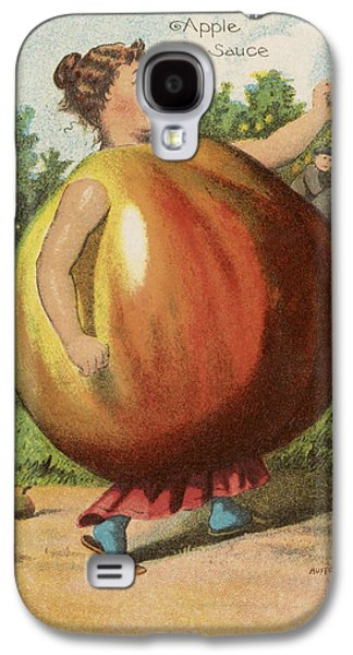 Person Drawings Galaxy S4 Cases - Apple Sauce Galaxy S4 Case by Aged Pixel