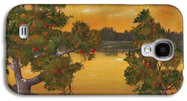 Thought Drawings Galaxy S4 Cases - Apple Sunset Galaxy S4 Case by Anastasiya Malakhova