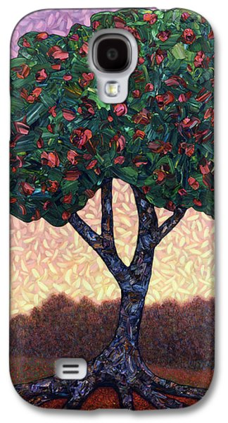 Sunset Abstract Galaxy S4 Cases - Apple Tree Galaxy S4 Case by James W Johnson