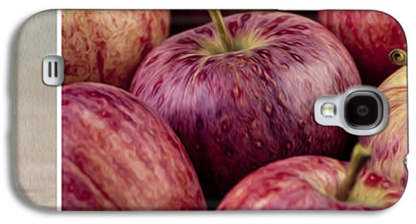 Food And Beverage Mixed Media Galaxy S4 Cases - Apples 01 Galaxy S4 Case by Nailia Schwarz