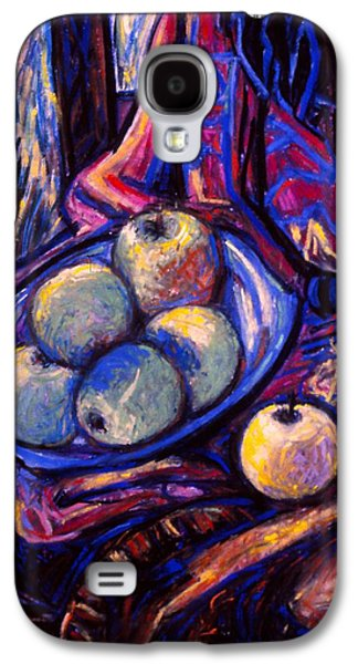 Chair Pastels Galaxy S4 Cases - Apples by an Open Window Galaxy S4 Case by Kendall Kessler