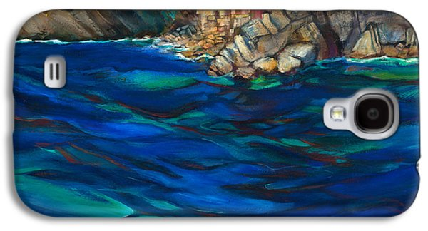 Terra Paintings Galaxy S4 Cases - Approach to Riomaggiore Galaxy S4 Case by Jen Norton