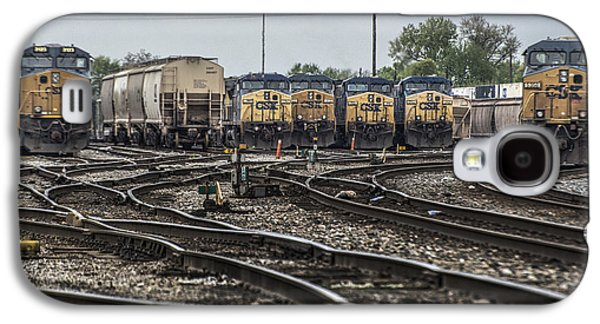 Evansville Galaxy S4 Cases - April 30 2014 - CSX Howell Yards Galaxy S4 Case by Jim Pearson