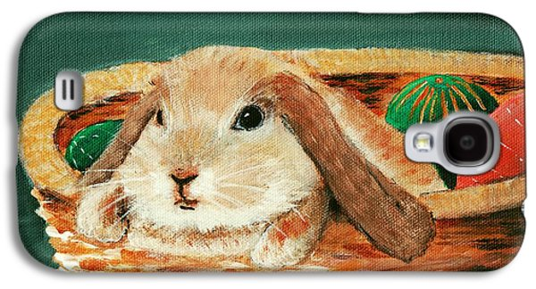 Holiday Paintings Galaxy S4 Cases - April Bunny Galaxy S4 Case by Anastasiya Malakhova