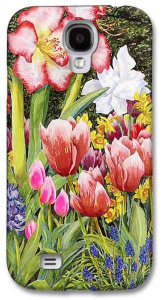 Spring Bulbs Paintings Galaxy S4 Cases - April Galaxy S4 Case by Karen Wright