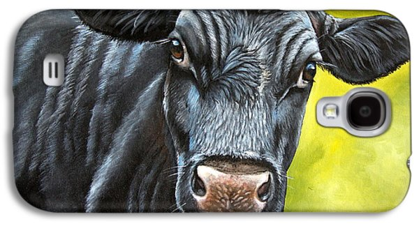 Steer Paintings Galaxy S4 Cases - April Galaxy S4 Case by Laura Carey