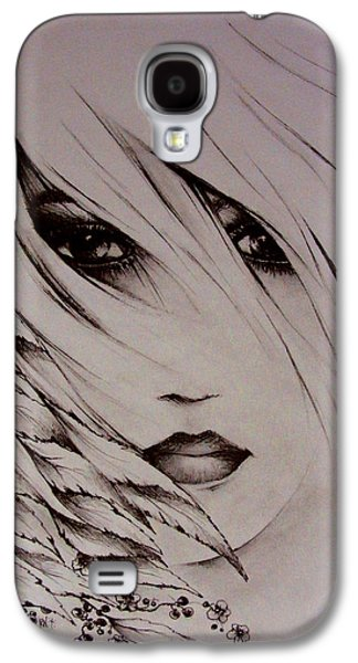Dreamscape Drawings Galaxy S4 Cases - April Galaxy S4 Case by Rachel Christine Nowicki