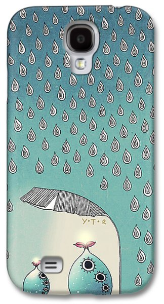 Storm Mixed Media Galaxy S4 Cases - April Shower Galaxy S4 Case by Yoyo Zhao