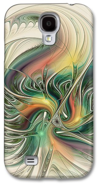 Recently Sold -  - Abstract Digital Digital Galaxy S4 Cases - Aprils Temper Galaxy S4 Case by Kim Redd